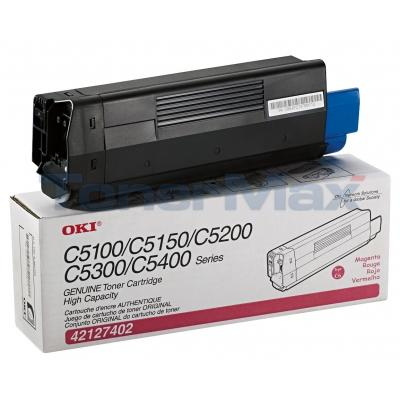 OKIDATA C5100N TONER MAGENTA 5K